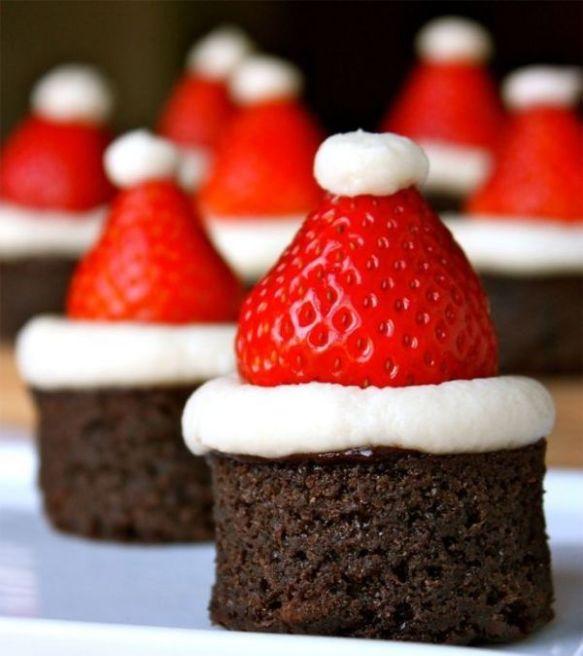 bonnet noel chocolat et fraise